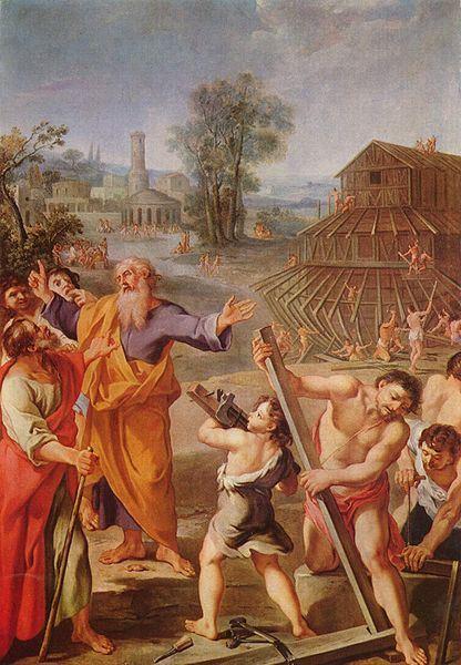 NOÉ Y EL ARCA viii Französischer Meister 1675