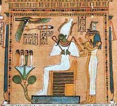 Osiris, Isis, Nephtys y los hijos de Horus