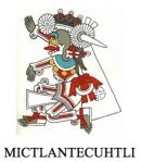 Mictlantecuhtli, dios azteca del Mictlan, llamado inframundo