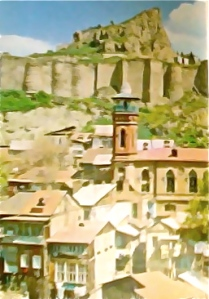 Paisaje de Tbilisi, Georgia, (antes URSS, antes Rusia)