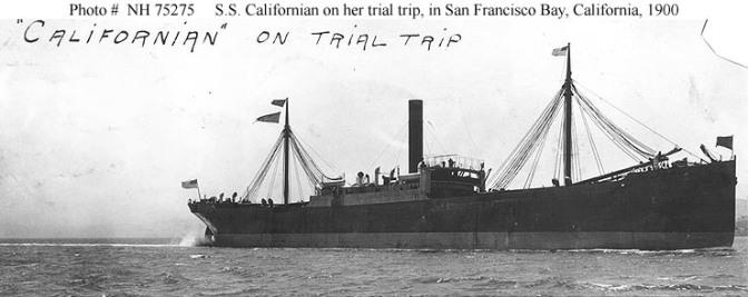 SS CALIFORNIAN, EL BARCO QUE NO ACUDIÓ AL RESCATE DEL TITANIC