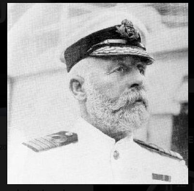 Capitan del Titanic en su primera y última travesía