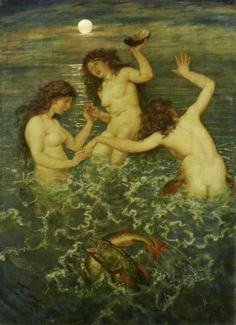 Tres sirenas Hans Thoma 1839 1924 Tre sirene