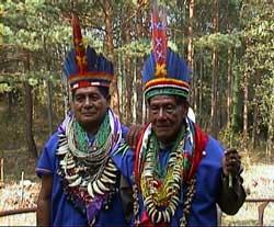 Chamanes colombianos en Alemania foto Walter Trujillo