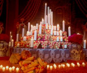 Ofrenda dia de muertos.  Ritos funerarios