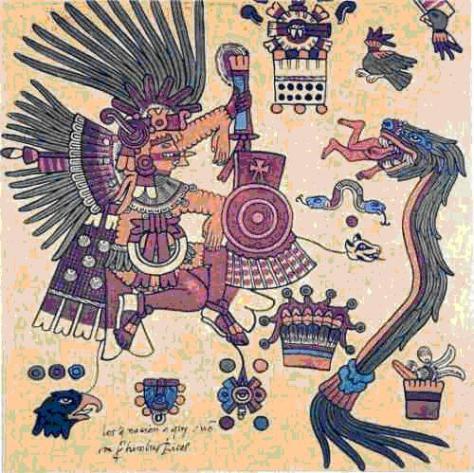 Quetzalcoatl Serpiente Emplumada o que vuela, dragon