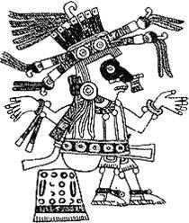 Tlahuizcalpantecutli, el dios del Venus matutino Códice Borgia  figura 69