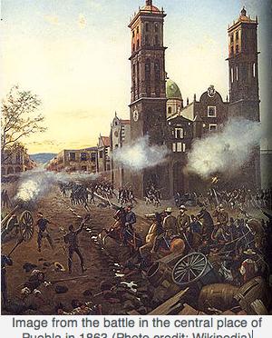 EL SITIO DE PUEBLA, 1863