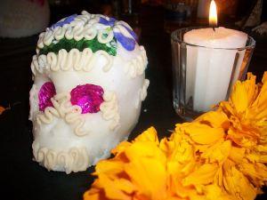 Flor de muertos o cempazúchil- cempaxúchitl y calaverita para dia de muertos
