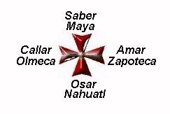 Cruz de Quetzalcoatl  Templaria Quincunce Los Cuatro Rumbos