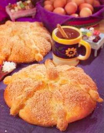 Pan de muerto de coco