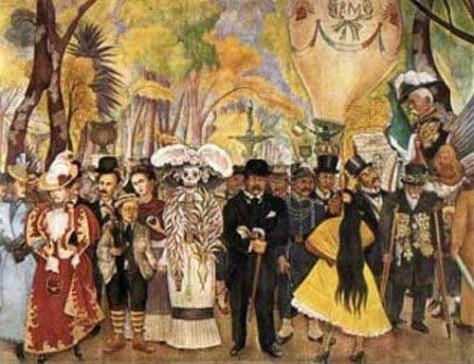 La catrina en mural de Diego Rivera