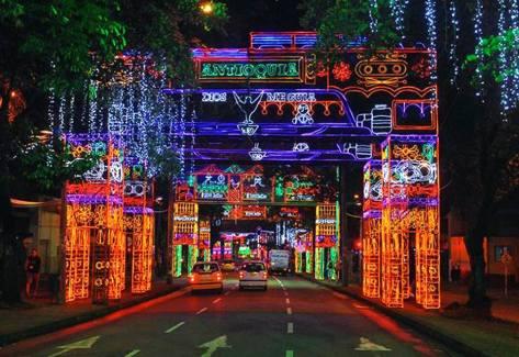Alumbrado de Navidad Medellin Colombia
