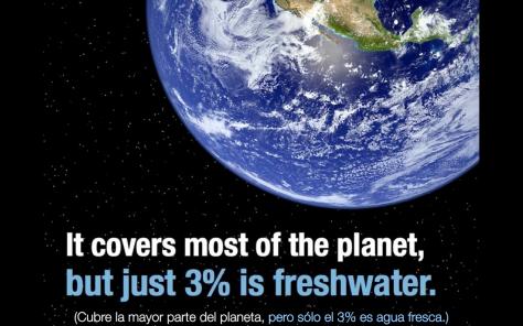 El agua dulce en nuestro planeta