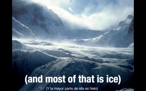 La mayor parte del agua dulce es hielo
