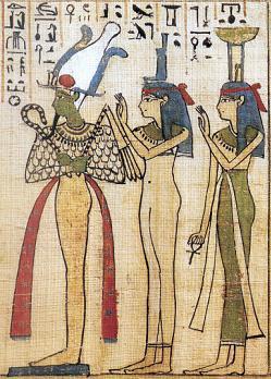 Osiris, Isis y Neftis egizi20