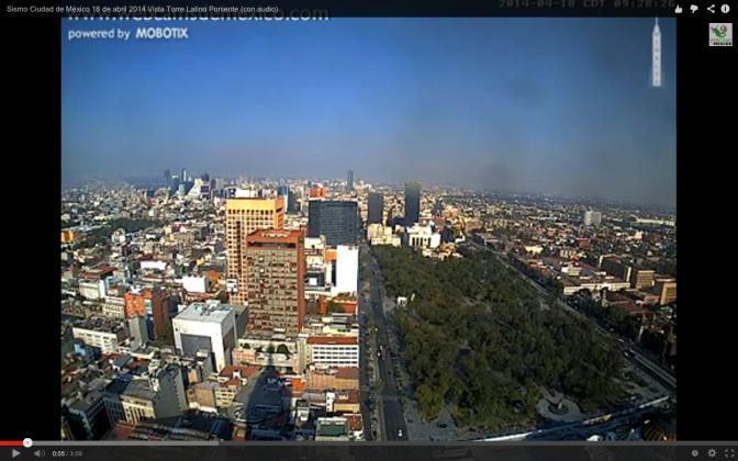 Sismo Ciudad de Mexico 18 abril 2014