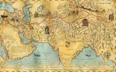 Antiguo mapa de la Ruta de la Seda