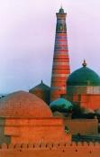 Huja madrese y minarete Uzbekistan