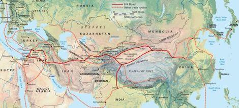 Mapa de la Ruta de la Seda