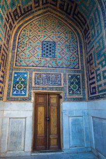 Tilla-Kari Medrassa in Registan Square Samarkand Uzbekistan