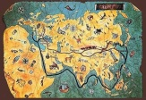 Turkish silk road map