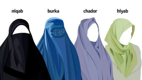 Mujeres islamicas con sus velos