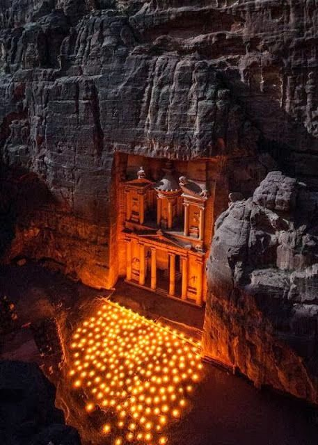 Petra Jordan night
