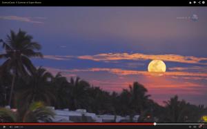 Super luna llena paisaje