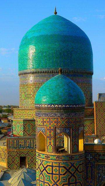 Uzbekistan, Samarkand Registan Minaret