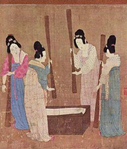 Batido de la seda China siglo XXVII a C Hui_Tsung_001