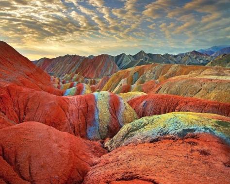 China montañas danxia-zhangye