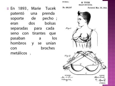 Brassiere de Marie Tucek 1893