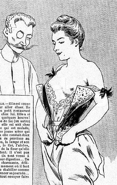 Erotic Drawing; Woman Undressing; Man