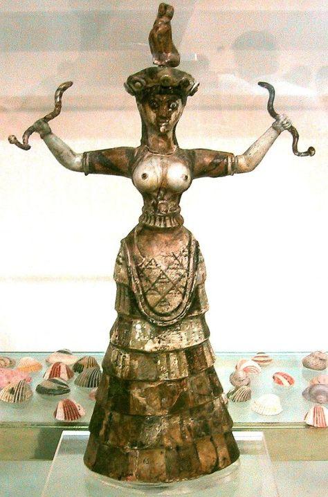 Diosa con serpientes Creta 1700 aC