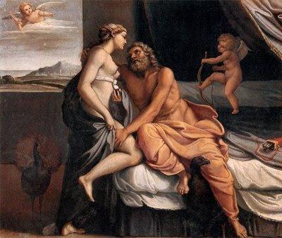 Annibale Carracci - Jupiter y Juno usando zoster