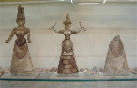 Arte de Creta diosas de serpientes Cnossos4