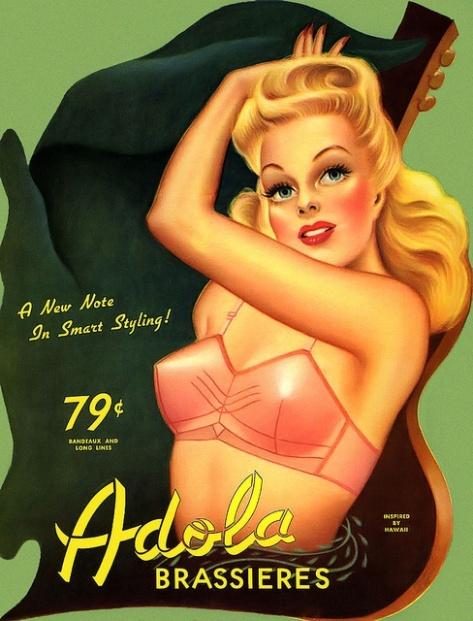 brassiere puntiagudo 1950