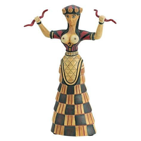 Diosa serpientes Creta corse 1700 aC