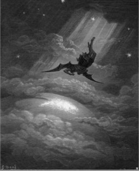 La caída de Lucifer por Gustave Dore