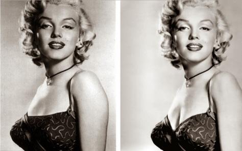 Marilyn Monroe en bra