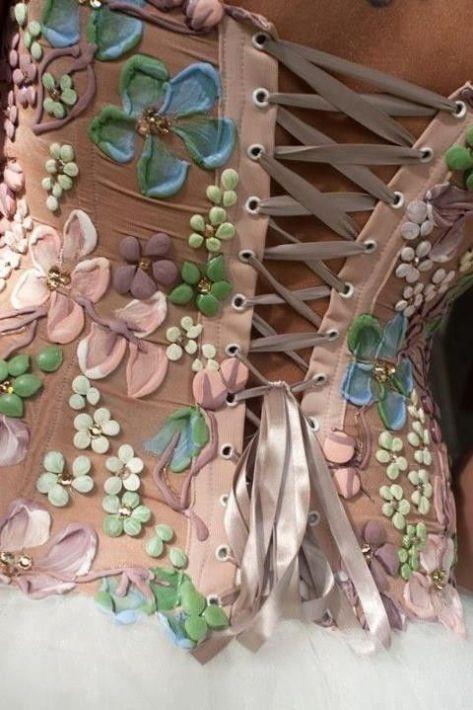 Pretty floral corset