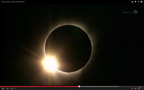 eclipse de Sol anillo diamante