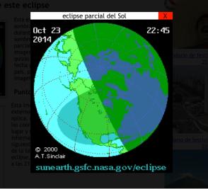 Eclipse parcial de Sol zona del