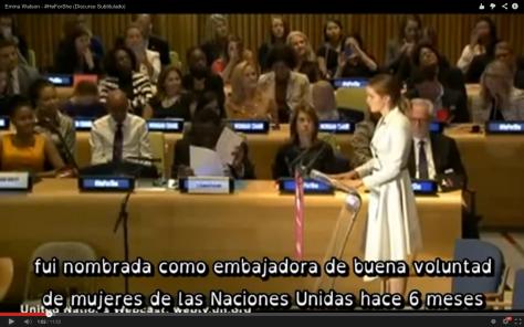 Emma Watson ante la ONU