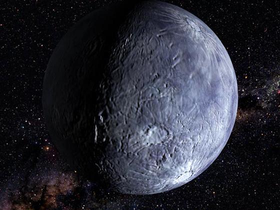 Ilustracion que representa a un planeta de nuestro Sistema Solar ubicado mas alla de la Orbita de Neptuno