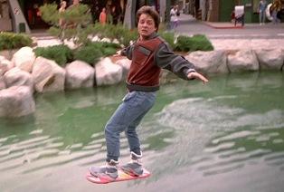 Volver al Futuro II patineta flotante