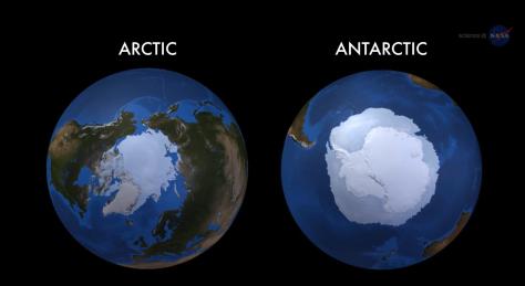 Hielo en el Artico y Antartico
