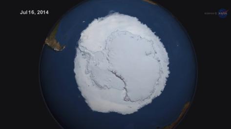 Mas hielo en la Antartida