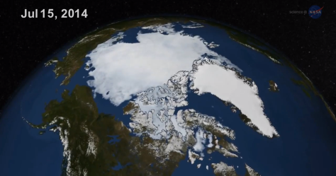 Menos hielo en el Artico
